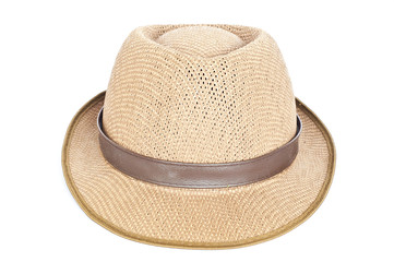 Fedora hat isolated.