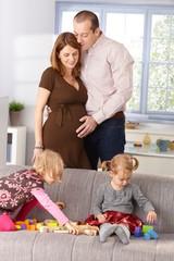 Happy family expecting baby
