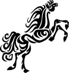Vector image - horse in tribal style. Vinyl-ready.
