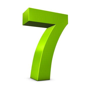 Number 7 3d render illustration
