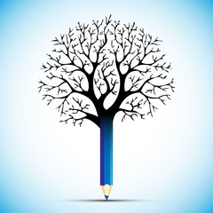 pencil tree color bulb