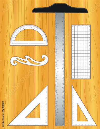 Architecture engineering drafting tools on wood drawing for Architecture design tools free