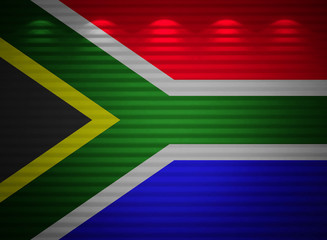 South Africa flag wall, abstract background