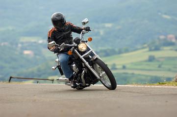 Fototapete - turist biker