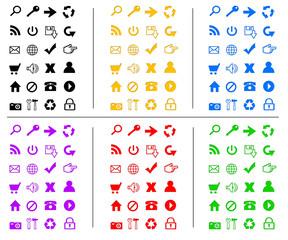 Icônes web technologie