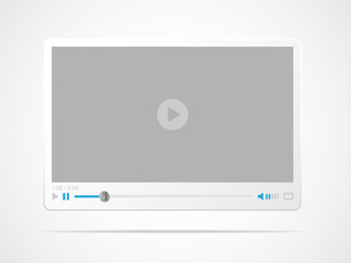 Video player interface. Vector illustration.