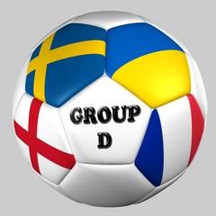 balón banderas grupo D euro copa 2012