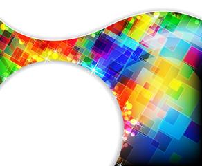 Transparent colored squares