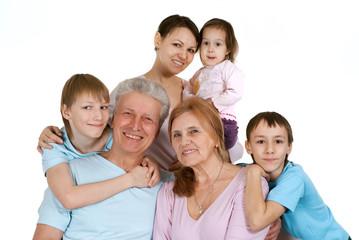Most nice Caucasian family happy fool