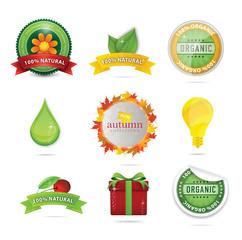 elegance bio and eco web symbols
