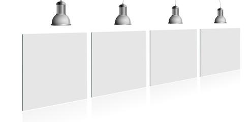 Schilder mit Lampe