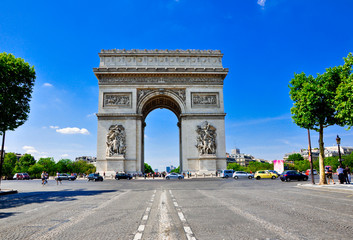 The Arc de Triomphe, Paris.