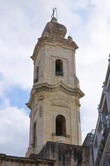 Belltower of Mother Church. Cavallino. Puglia. Italy.