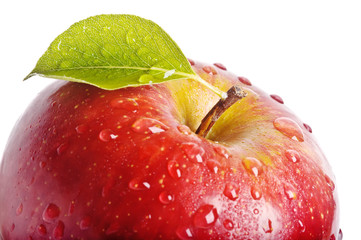 isolated juicy red apple