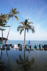 Pool on a beach of the Thai gulf