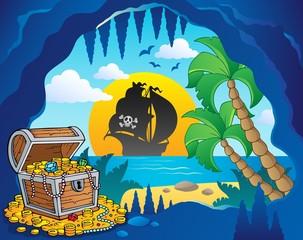 Foto op Plexiglas Piraten Pirate cove theme image 1