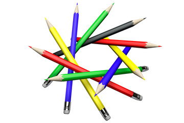 Pencils in circle