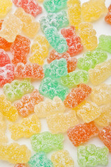 gummy candy bears background
