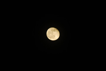 Full moon with plenty of space