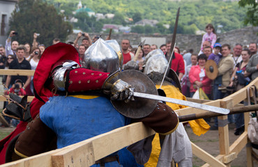 KAMYANETS-PODILSKY- JUNE 2: Forpost  Medieval Festival, Ukraine