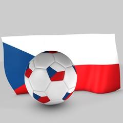 balón y bandera república checa
