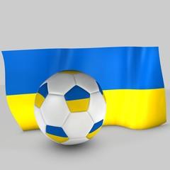 balón y bandera ucrania
