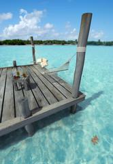 Hammock in tropical jetty