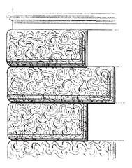 Vermiculated Stone Work, vintage engraving