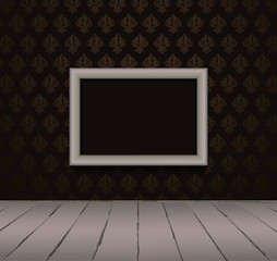 Black interior with gray frame. Vector illustration EPS10
