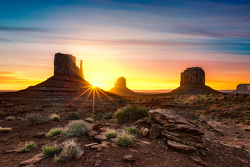 Photo sur Plexiglas Marron chocolat Monument Valley