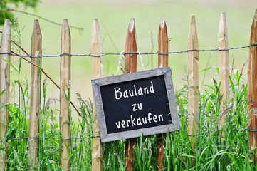 Fototapete - Bauland zu verkaufen