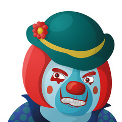 Clown angry