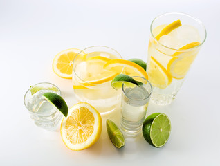 drinks with lemon and lime