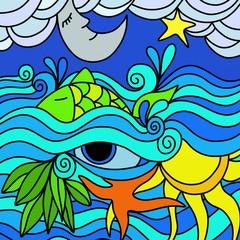 mare di notte