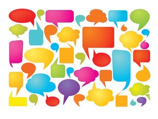 Colorful speech bubbles