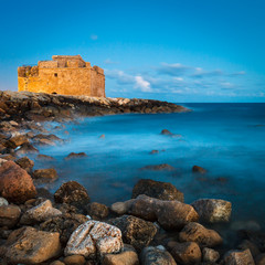 Night view of the Paphos Castle (Paphos, Cyprus)