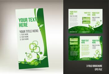 Eco green brochure template
