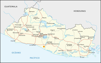 El Salvador Straßenkarte