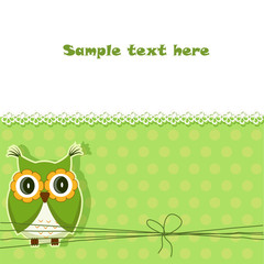 Vector cute owl card