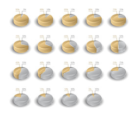 Gold & Silver pie charts