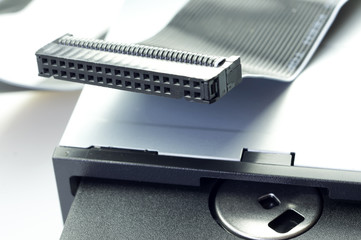 The floppy drive and floppy disk