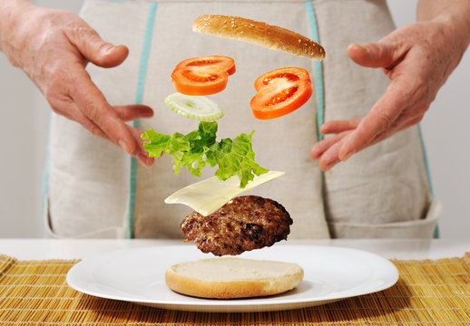 Making burger skills