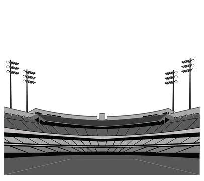 Stadium background . Vector illustration.