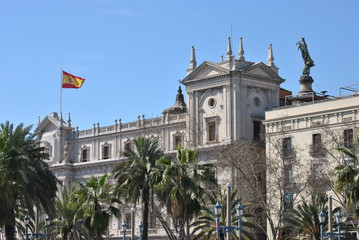 Military Government building in Barcelona, Spain