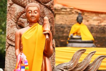 Stand buddha in chiangmai