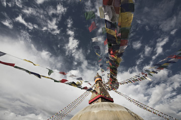 Nepal: Kathmandu - Weltkulturerbe Boudha Stupa