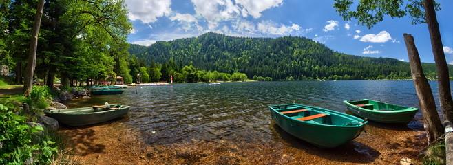 Lac de Xonrupt-Longemer, Hautes-Vosges, Alsace (Fr).