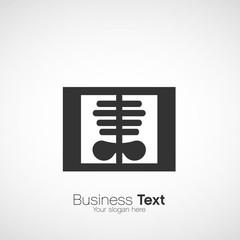 logo design, radio du thorax