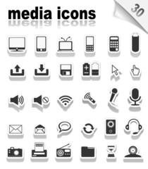 30 Media icons