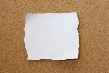 Paper note on wood background